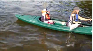 watch Charlotte Kayak at Camp No Limits with her mentor Cameron Clapp