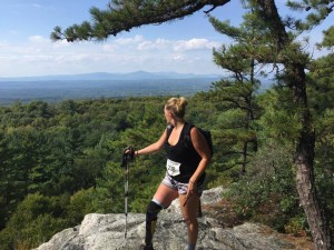Brooke Artesi - completing the Shawangunk Ridge Trail - 20 mile hike