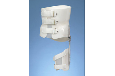 Boston Brace body jacket LSO Hip Spica with drop lock joints (Lumbar Spine) - custom fitted at Sunshine Prosthetics and Orthotics, Wayne NJ