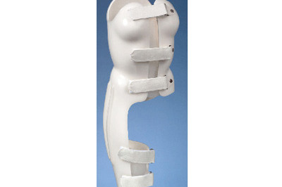 Boston Brace body jacket TLSO Hip Spica with integrated leg  (Thoracic Lumbar Spine) - custom fitted at Sunshine Prosthetics and Orthotics, Wayne NJ
