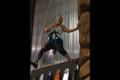 Extremity Games 2013 -  Brooke Artesi 1st place Rockwall Climbing - Sunshine Prosthetics and Orthotics, Wayne NJ
