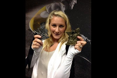 Brooke Artesi with her Extremity Games 2013 medals - Sunshine Prosthetics and Orthotics, Wayne NJ