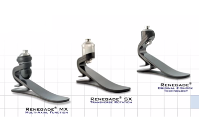 Freedom Innovations Renegade carbon fiber prosthetic foot with active tibial progression to absorb and redirect energy- Sunshine Prosthetics and Orthotics, NJ