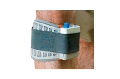Closeup of WalkAide on leg - unit available at Sunshine Prosthetics and Orthotics in northern NJ
