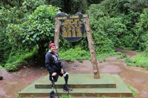 Julian Torres beginning ascent of Kilimanjaro